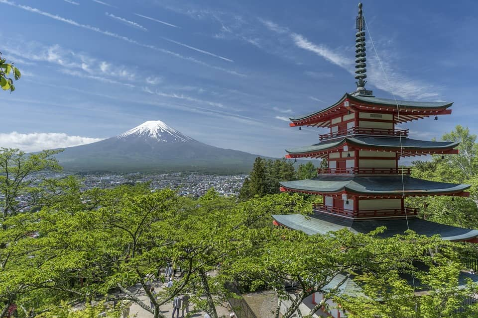Foto is japan in